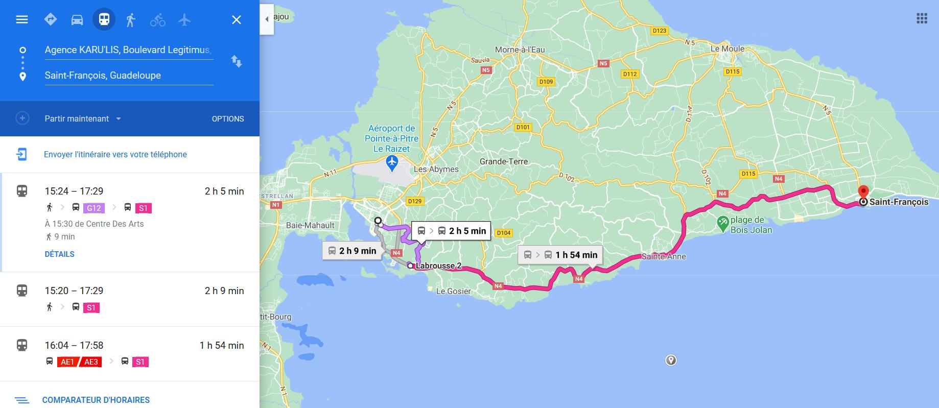 Le réseau KARU'LIS désormais accessible sur Google Maps